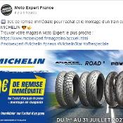 30€ de remise immédiate pour l'achat et le montage d'un train de pneus